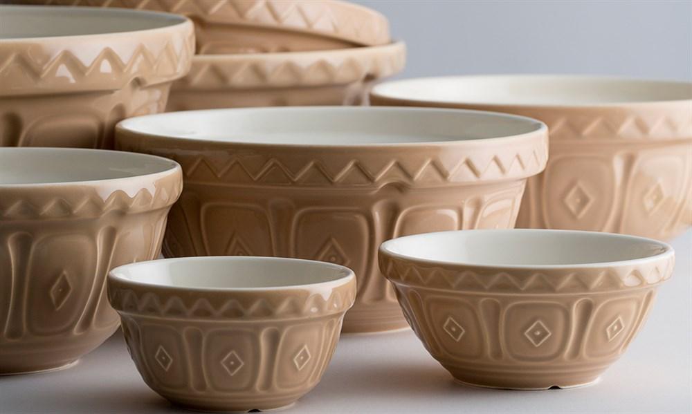 Cane Mixing Bowls Lrg